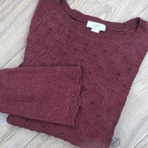 Mauve LOFT outlet sweater Large